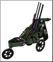 3-Gun Muzzles Up Shooting Cart Combo Package (SKU: T1695)